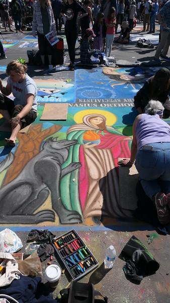 I Madonnari, Santa Barbara Mission, 2019.