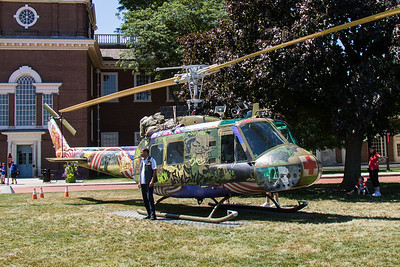 The annual Salute to America Independence Day celebration took place at Greenfield Villlage in Dearborn June 30 - July 3, 2016. This year, the event included access to Take Me Home Huey, a mixed-media sculpture by Steve Maloney. Photo by Debbie Malyn for the Press & Guide.