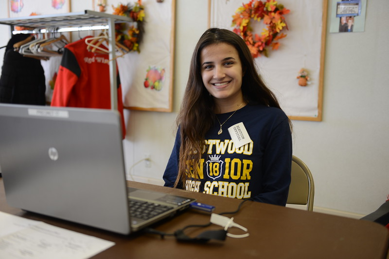 Election volunteer Boushra El-Dirani, 17, said she likes taking part in Election Day to connect with the community.