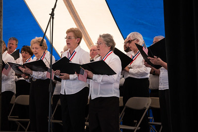 The Ford Chorus performed at the Salute to our Military Past and Present on Saturday, June 11. Photo by Debbie Malyn for the Press & Guide.