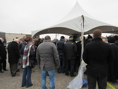 Community members came out in support of the BJCC's groundbreaking ceremony Saturday, Jan. 28 at the center's future site, 14201 Prospect. St. in Dearborn.  Photo by Micah Walker