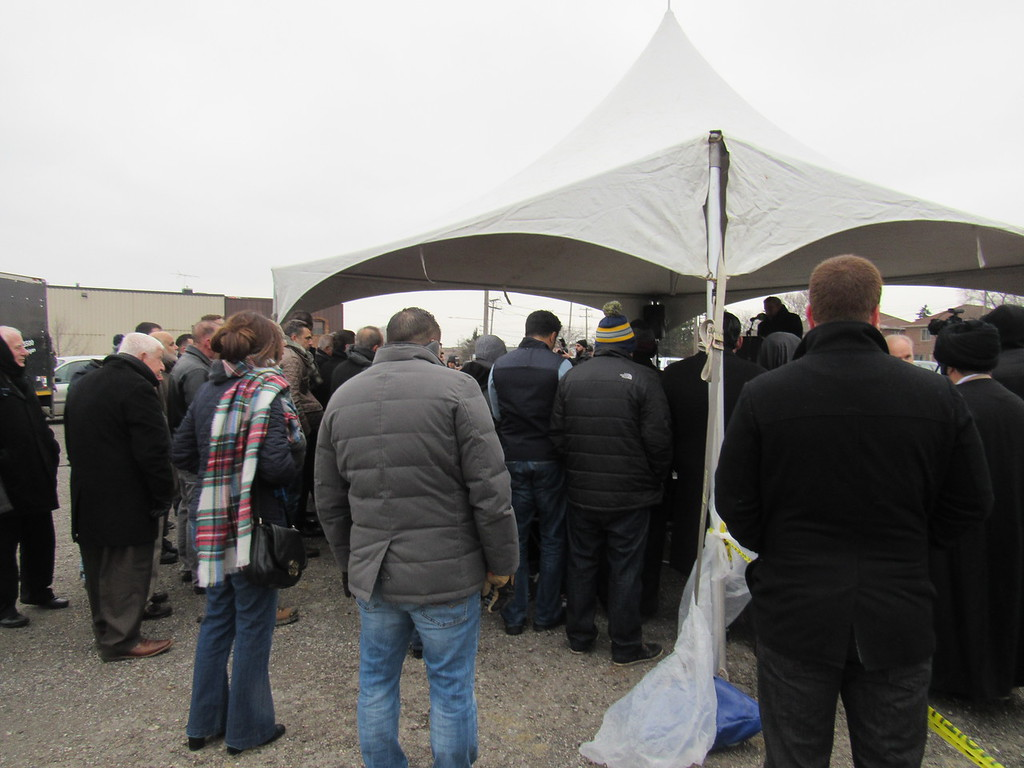 . Community members came out in support of the BJCC\'s groundbreaking ceremony Saturday, Jan. 28 at the center\'s future site, 14201 Prospect. St. in Dearborn.  Photo by Micah Walker