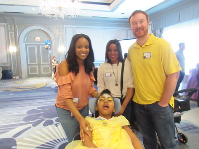 From left to right: Brittany and Day Brown, Mat Clark, and Amaree Brown. Amaree has Lennox-Gastaut Syndrome, a severe form of epilepsy.