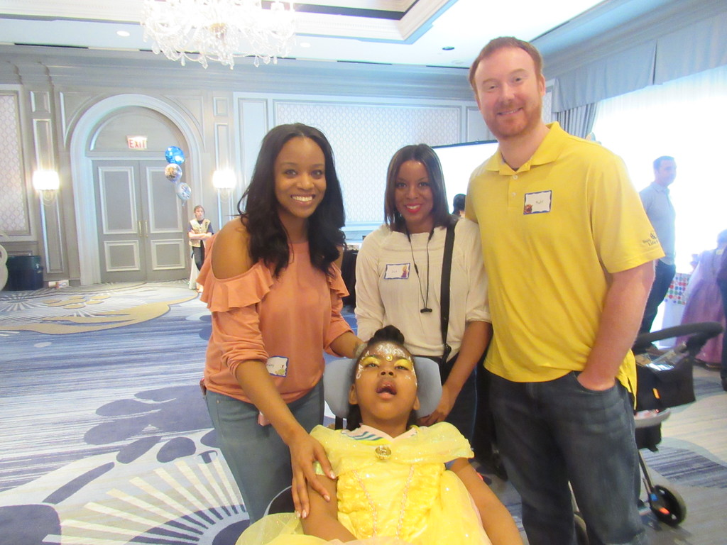 . From left to right: Brittany and Day Brown, Mat Clark, and Amaree Brown. Amaree has Lennox-Gastaut Syndrome, a severe form of epilepsy.