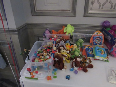 There were a wide variety of game prizes children could choose from at the Princess and Superhero Party.