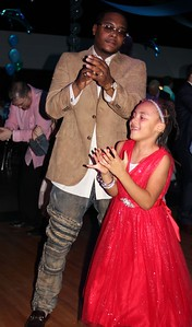 Maurice Edwards (left) and Mauriah, 6, show off their moves at the Daddy – Daughter Dance Feb. 3.