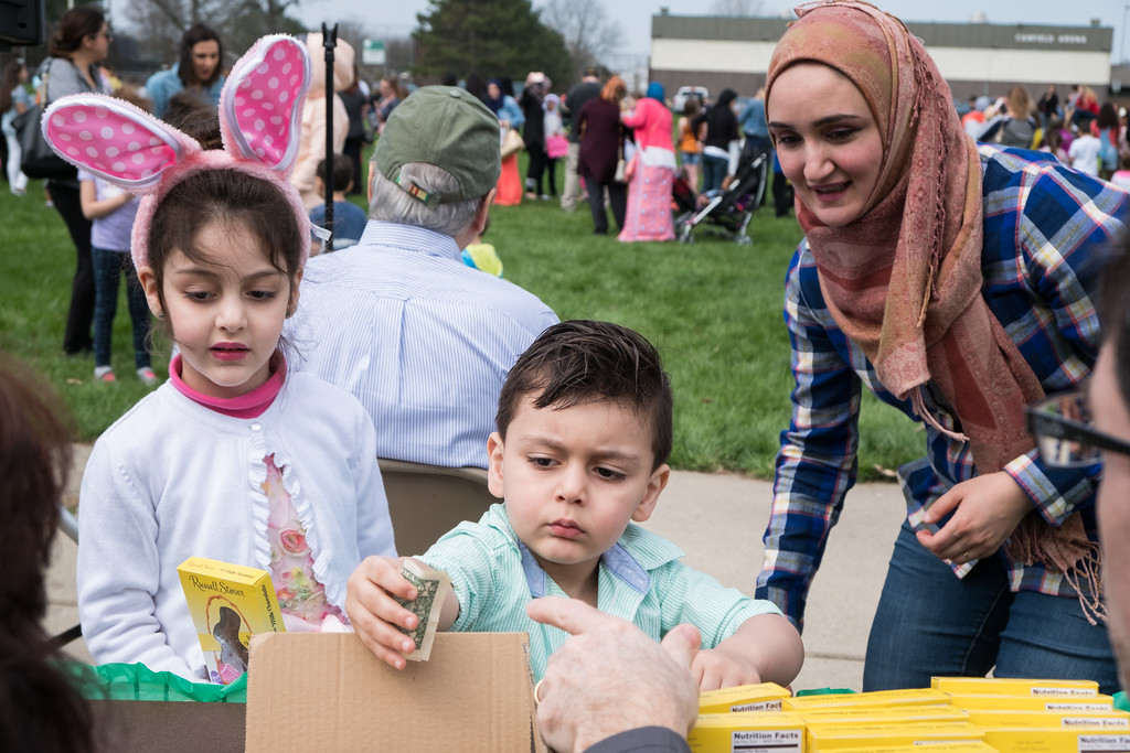 . Kids were able to trade in plastic coins found in the eggs for prizes. Real money was not accepted. Photo by Debbie Malyn for the Press & Guide.