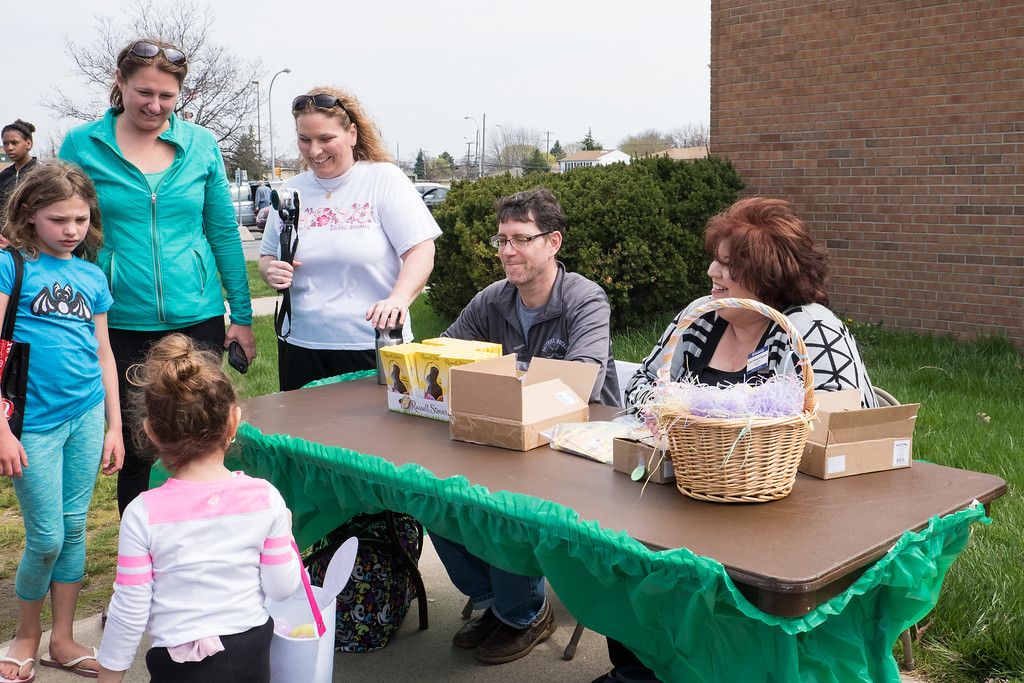 . Kids were able to trade in plastic coins found in the eggs for prizes. Photo by Debbie Malyn for the Press & Guide.