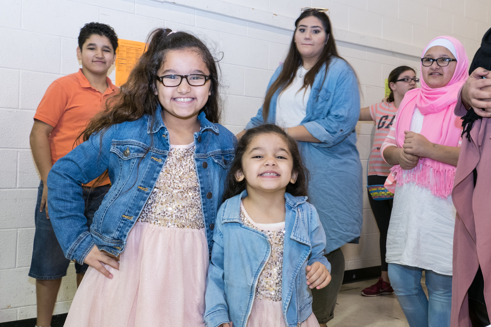 Nureen and Raneem Mohan wait to take photos with the Easter Bunny. Photo by Debbie Malyn for the Press & Guide.