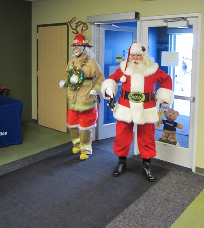 Dearborn firefighters toy delivery