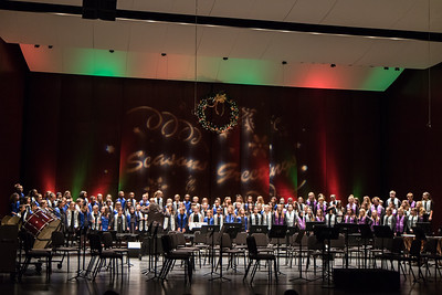 The Dearborn Public Schools Elementary and Secondary Honors Choir performed and joined in the sing-along with Mayor John B. O'Reilly, Jr and Santa and Mrs. Claus. Photo by Debbie Malyn for the Press & Guide.