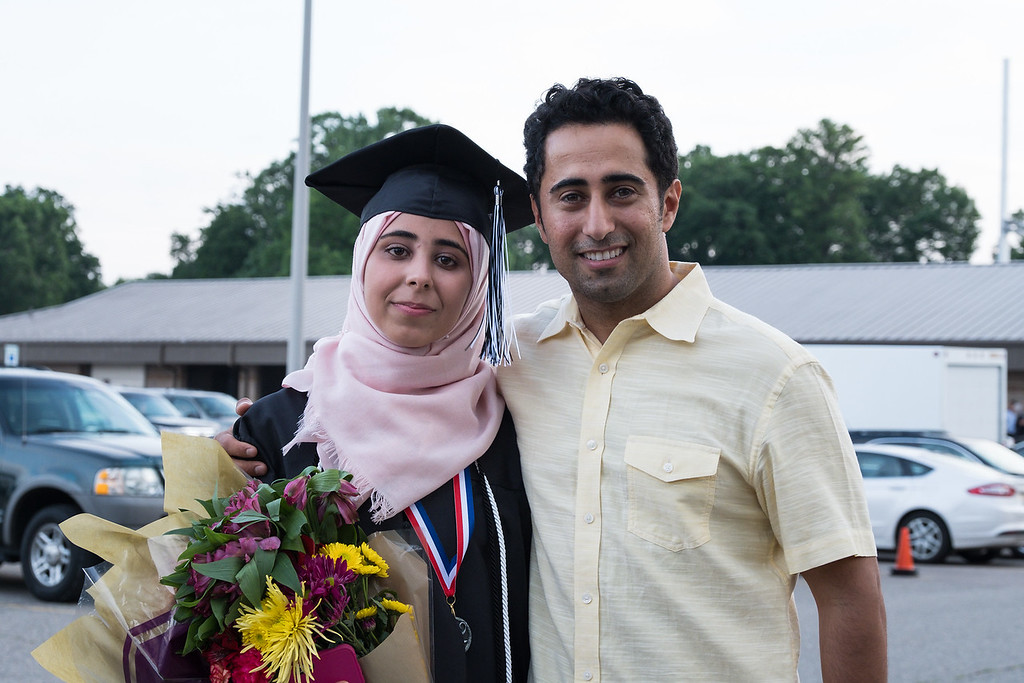 . Graduate Kayan Alkuhali. Photo by Debbie Malyn for the Press & Guide.