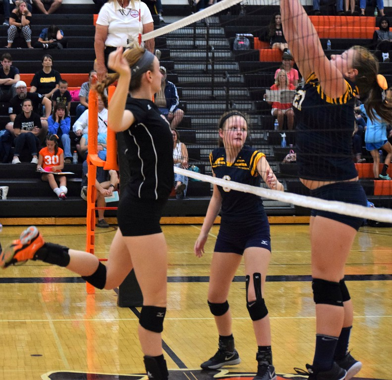 . Dearborn High welcomed in Annanpolis on Tuesday night and swept the Cougars in three sets. Photo by Alex Muller - For the Press & Guide