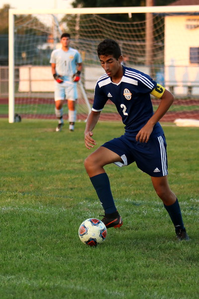 Crestwood's Mohamed El-Habhab plays the ball during his team's battle with visiting Livonia Clarenceville on Monday night. The Chargers came away with a 2-1 victory over the Trojans. Ryan Dickey - For Digital First Media