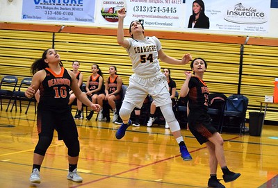 Crestwood welcomed in Dearborn High on Tuesday night and defeated the Pioneers by a score of 53-32. Photo by Alex Muller - For the Press & Guide