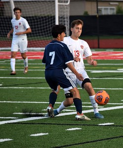 Divine Child and visiting Crestwood played to a 1-1 tie on Tuesday night in a non-conference battle. Photo by Alex Muller - For Press & Guide