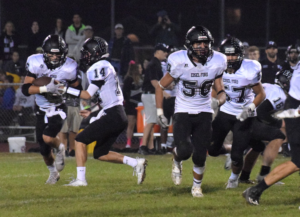 . Edsel Ford headed to Crestwood on Friday night and defeated the Chargers 34-13. The Thunderbirds improved to 5-2 for the season. Photo by Frank Wladyslawski - Press & Guide