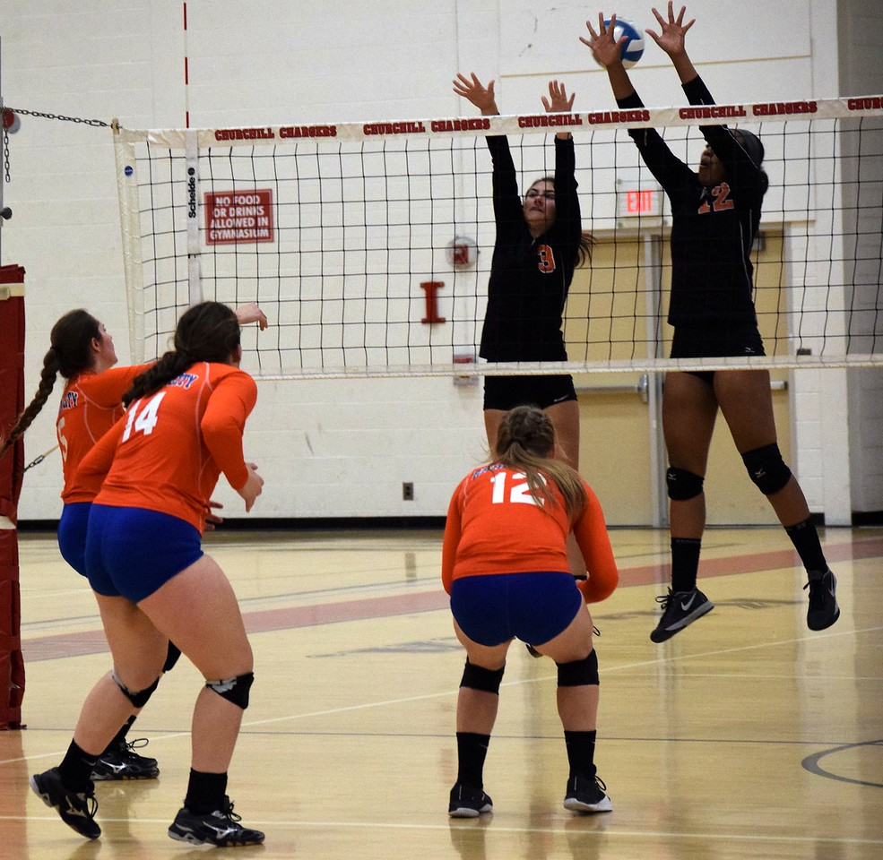 Dearborn High defeated Garden City 3-0 on Wednesday night in the Class A, District 28 semifinals.  The Pioneers will face host Livonia Churchill on Friday for the championship. Photo by Alex Muller - For the Press & Guide