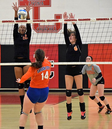 HS Sports - Dearborn High vs Garden City District  Volleyball