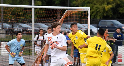Crestwood and host Dearborn High played to a 2-2 tie on Monday night. Photo by Frank Wladyslawski