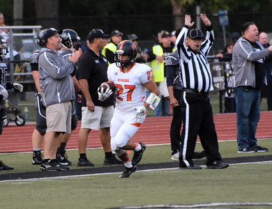 Edsel Ford hosted Dearborn High on Friday night and defeated the Pioneers 29-21. It marked the last game between the two in-city rivals for the foreseeable future. Photo by Frank Wladyslawski - Press & Guide