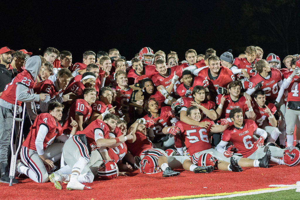 . Divine Child hosted Redford Thurston on Friday night and came away with a 42-6 victory and a district title. The Falcons will face Riverview next week for the regional championship. Photo by Jack VanAssche - For the Press & Guide