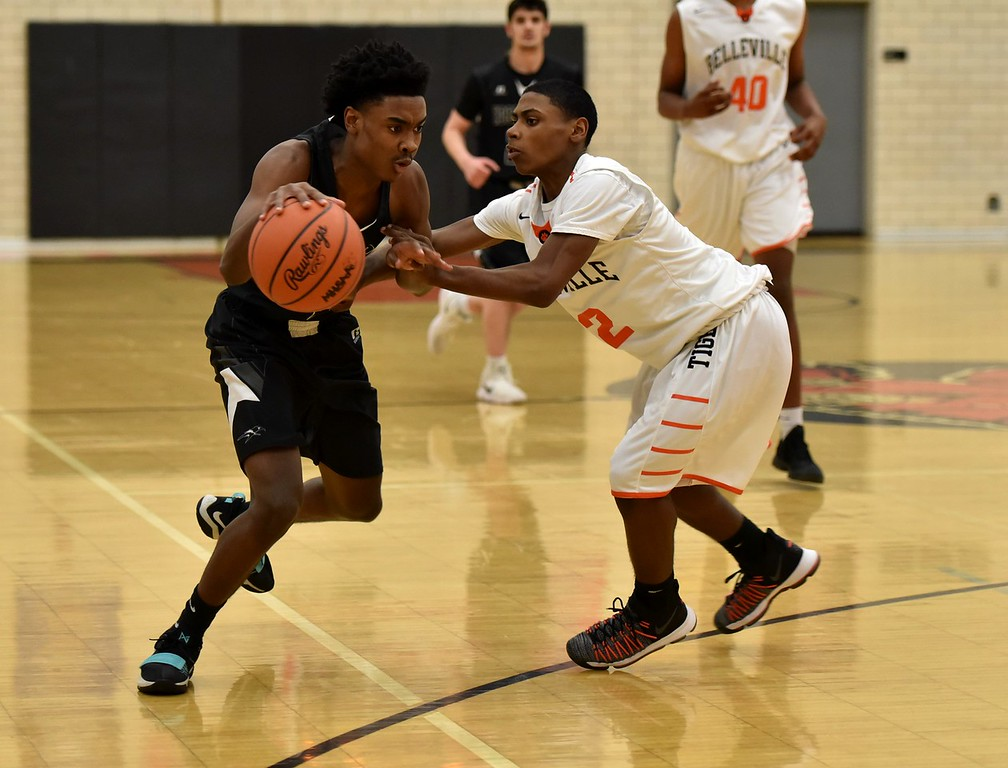 . Edsel Ford took on Belleville in the Class A, Region 7 semifinals on Monday night. The Thunderbirds went on to suffer a 90-55 defeat. Photo by Alex Franzen - For the Press & Guide