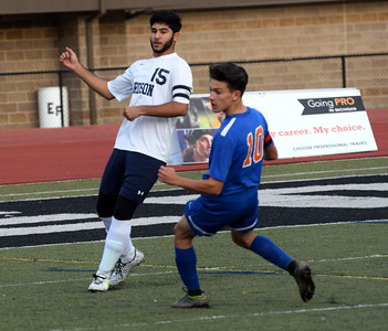 Fordson defeated Lincoln Park 7-1 on Monday night at Edsel Ford in the first round of Division 1, District 7 soccer. The Tractors advanced to play the host Thunderbirds on Wednesday night. Photo by Frank Wladyslawski - Press & Guide