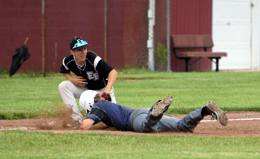 . Edsel Ford took on Woodhaven in the Division 1, Region 4 semifinals on Saturday at Southgate Anderson and fell by a score of 9-2. Photo by Frank Wladyslawski � The Press & Guide