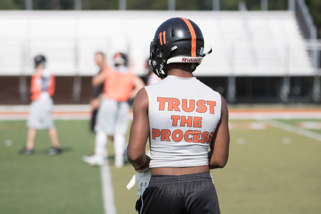 . Dearborn High took the field on Monday for  the first official day of practice in Michigan. The Pioneers are coming off a 9-2 season, which included a trip the district championship game. (Photo Gallery by Jack VanAssche)