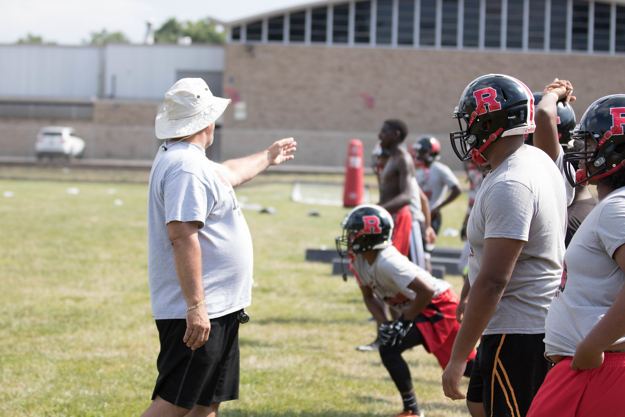 Robichaud kicked off the 2017 season on Monday looking to improve upon last year's 1-8 finish. At the helm this fall is first-year coach Jason Malloy, who is also the school's athletic director.  (Photo Gallery by Jack VanAssche)