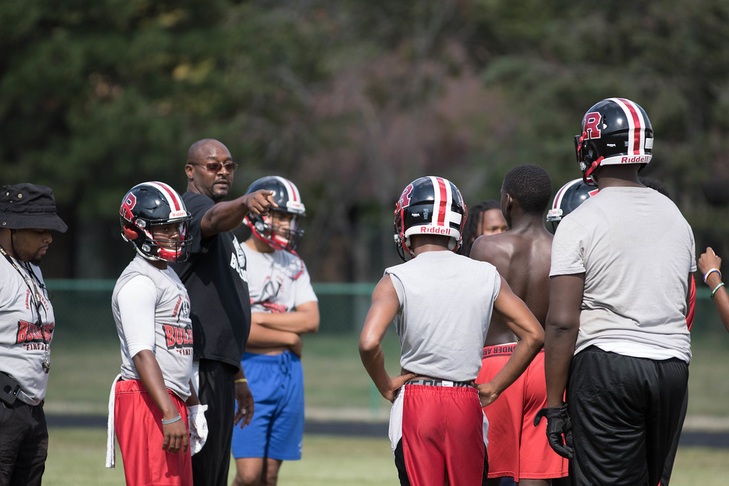 . Robichaud kicked off the 2017 season on Monday looking to improve upon last year\'s 1-8 finish. At the helm this fall is first-year coach Jason Malloy, who is also the school\'s athletic director.  (Photo Gallery by Jack VanAssche)