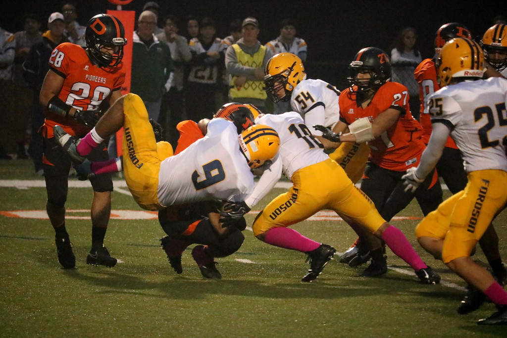 . Fordson traveled to Dearborn High on Friday night and defeated the Pioneers 31-12. The Tractors improved to 6-1 and qualified for the playoffs for the 12th year in a row. Photo by Ryan Dickey - For the Press & Guide