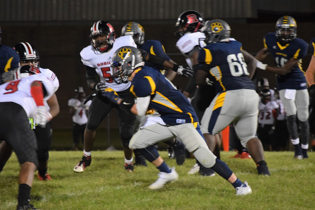 . Robichaud traveled to Annapolis on Friday night and defeated the Cougars  by a score of 38-16. Photo by Alex Muller  - For the Press & Guide