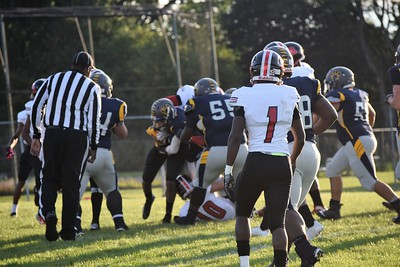 Robichaud traveled to Annapolis on Friday night and defeated the Cougars  by a score of 38-16. Photo by Alex Muller  - For the Press & Guide