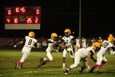 Robichaud hosted Crestwood on Friday night and defeated the Chargers 34-26. Photo by Ryan Dickey - For the Press & Guide