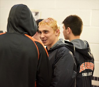 Dearborn High, Edsel Ford, Crestwood and Fordson competed in the boys' swim Western Wayne Athletic Conference Meet prelims on Wednesday at Belleville High School. The finals are set for Friday, back at Belleville. Photo by Alex Franzen - For the Press & Guide