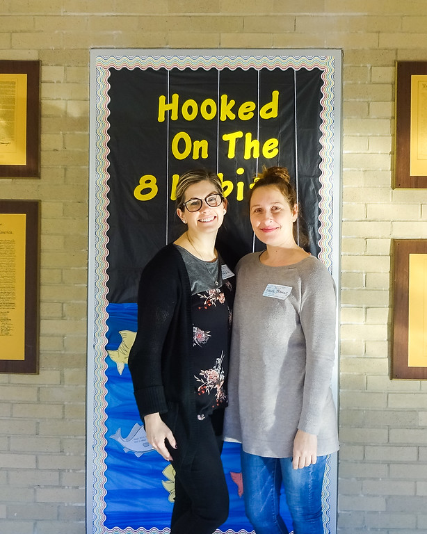 . Whitmore-Bolles parents Alisha Sulla and Sonya Thomas. Photo by student Broadcast Club member Lily Majcher.