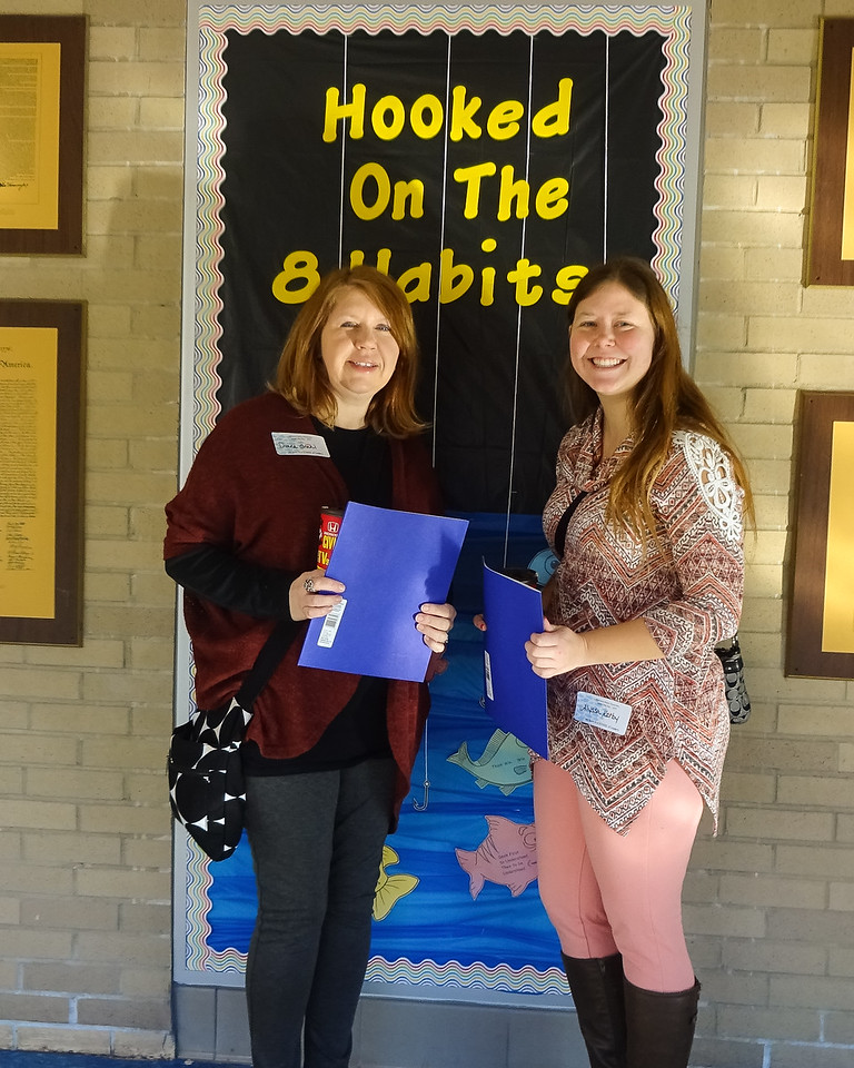DPS Teachers Diane Grahl and Allyssa Kerby. Photo by student Broadcast Club member Lily Majcher.