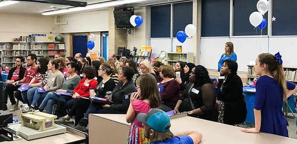 Whitmore-Bolles Elementary held its 2nd annual Leadership Day on March 8, 2017. This student led day immersed participants in the student leadership culture created by the implementation of The Leader in Me initiative at Whitmore-Bolles. Attendees included community members, parents and staff from Dearborn Public Schools and other districts. Photo by Debbie Malyn.