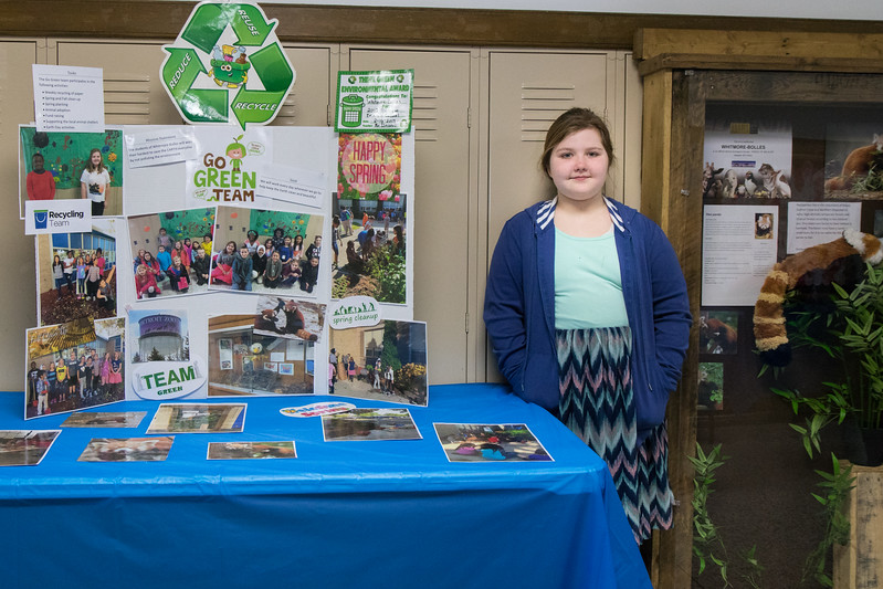 Ruthanne Ferguson represented the Go Green Team during the station walk. Photo by Debbie Malyn.