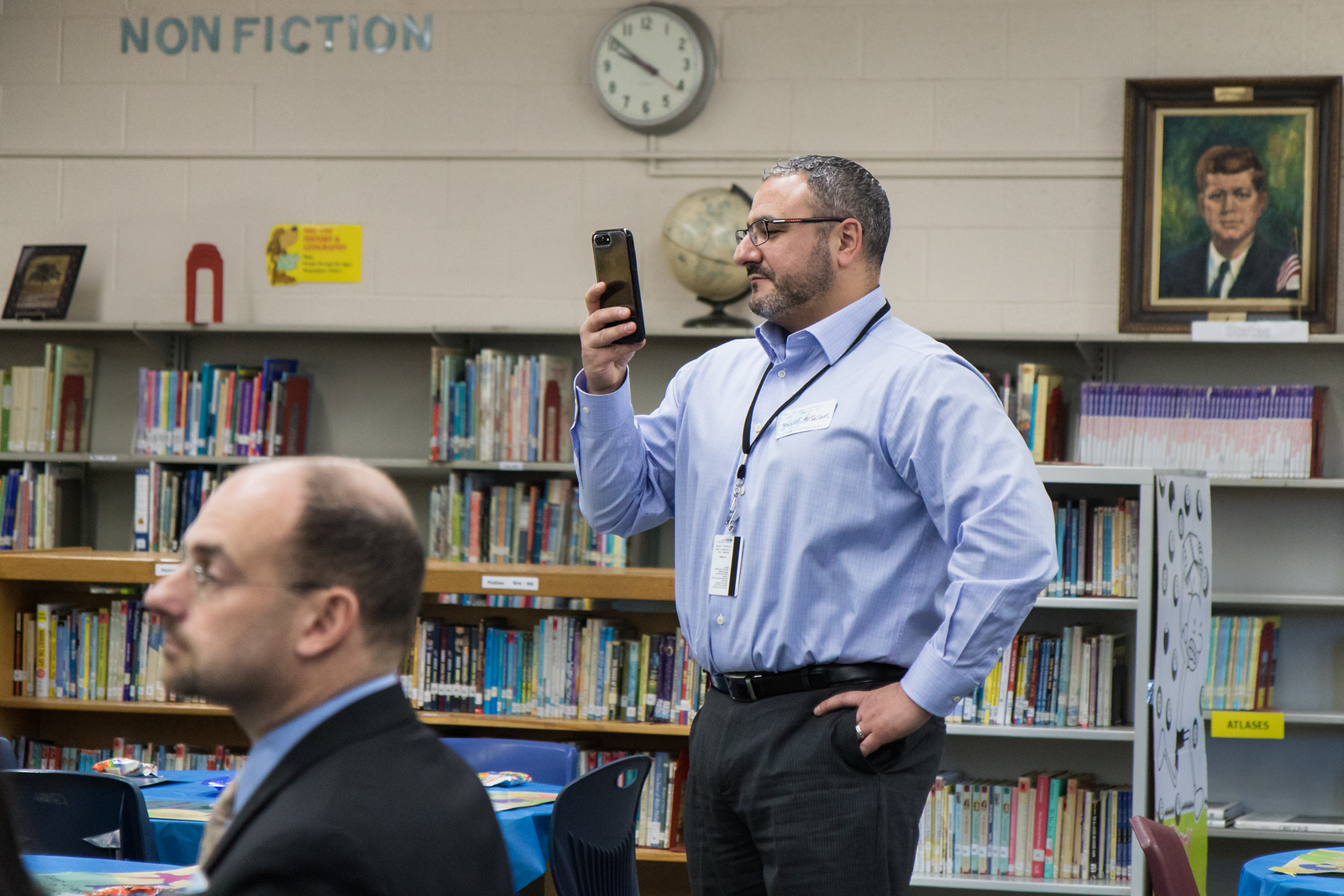 Youssef Mosallam, Executive Director of Student Achievement for Dearborn Schools. Photo by Debbie Malyn.