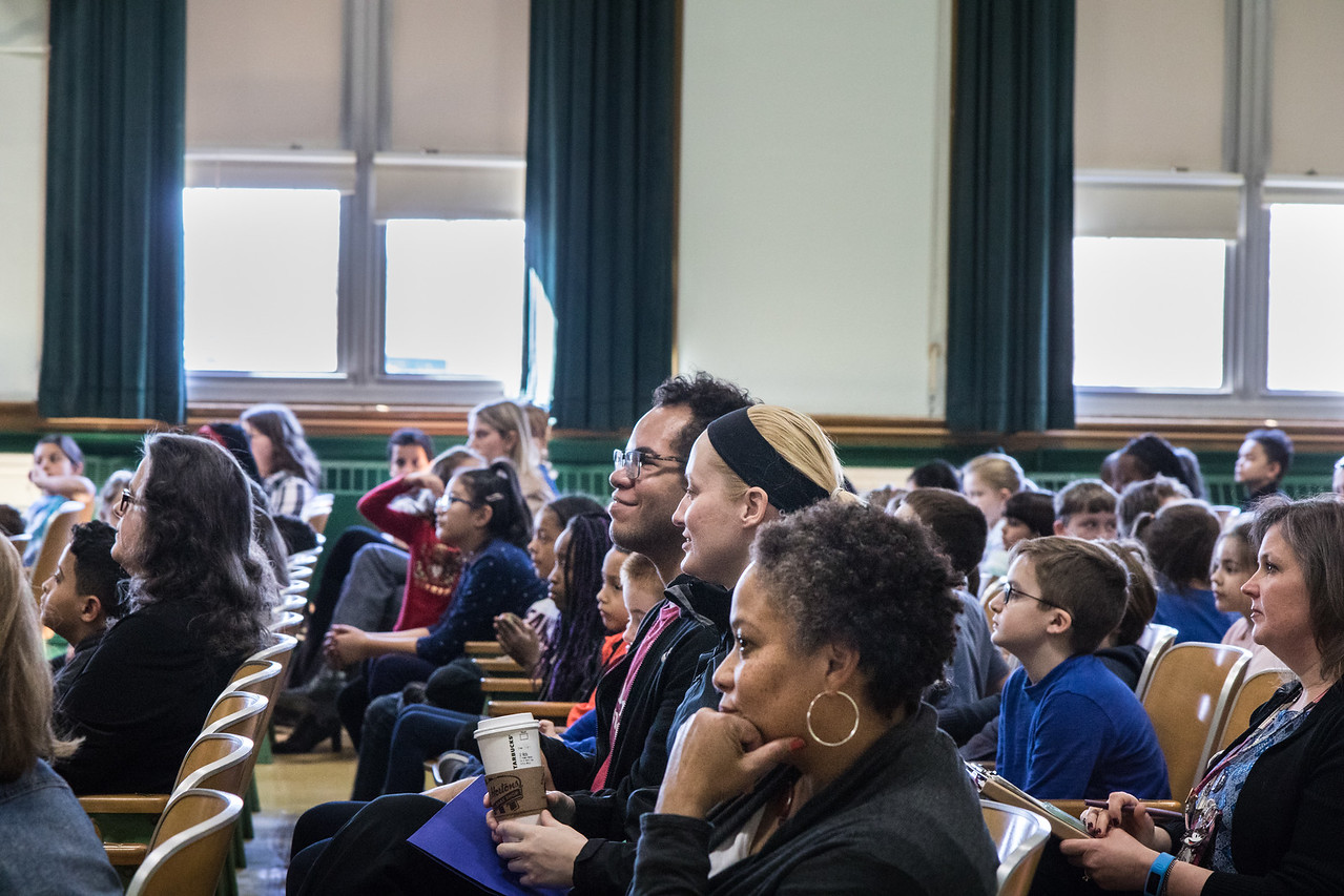 Leadership Day participants enjoying the student led assembly. Photo by Debbie Malyn.