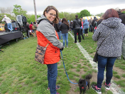Stephanie Scheuermann brings her dog, Magnet to the 11th annual Mutt Strut and Pet Expo.   Photo by Micah Walker