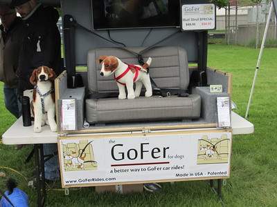 Ben Ogden brought his canine restraint device, the GoFer to the Mutt Strut May 14.