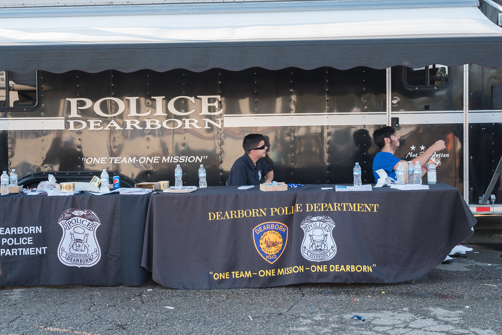 """. The Dearborn Police Department held its annual National Night Out on crime event on Tuesday, August 1, 2017 at the Dearborn Police Department. This free event was sponsored by Target stores located in Dearborn and the Dearborn Police Department. The Dearborn event is held in conjunction with National Night Out, sponsored by the National Association of Town Watch, a neighborhood crime and drug prevention event that occurs annually on the first Tuesday in August. In addition to increasing awareness of crime prevention programs, National Night Out also strengthens neighborhood spirit and community-police partnerships, while sending a message to criminals that \""""neighborhoods are organized, working with police and are fighting back against crime!�  Photo by Debbie Malyn for the Press & Guide."""