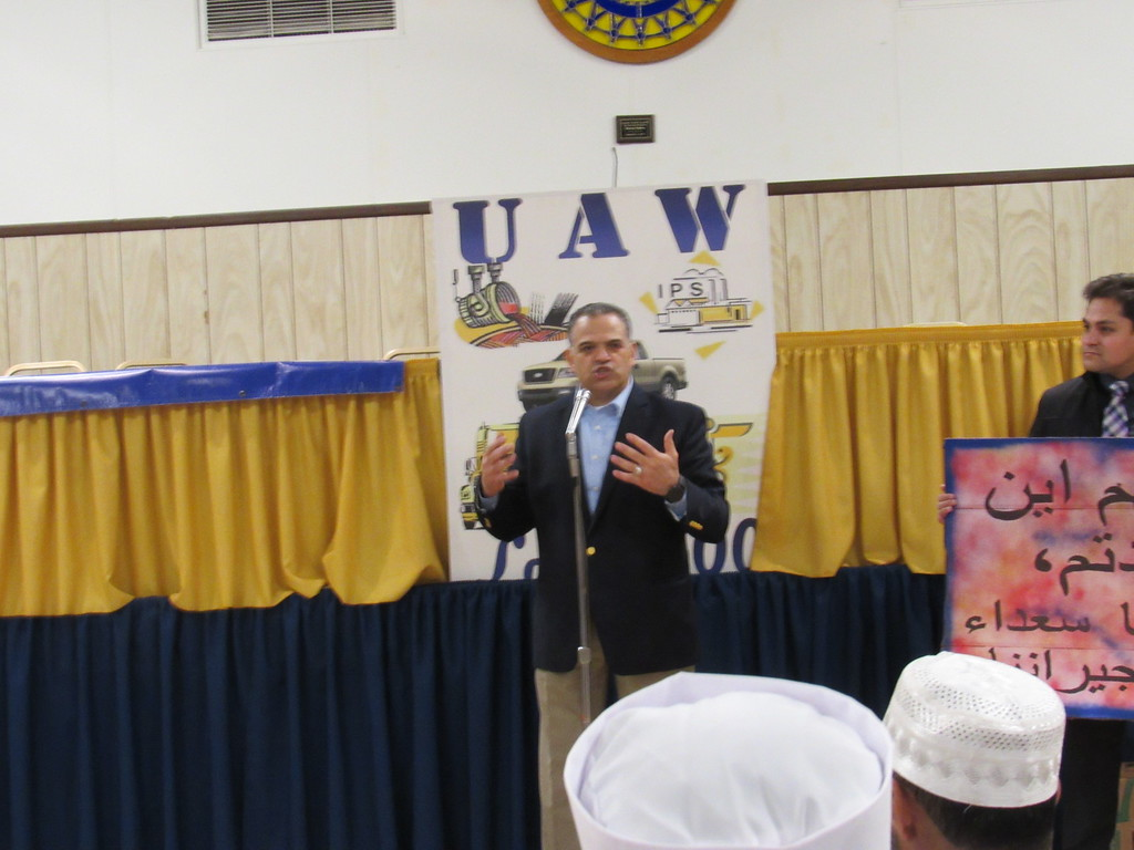 . American Muslim Leadership Council President Khalid Turaani was one of the speakers at the reception.