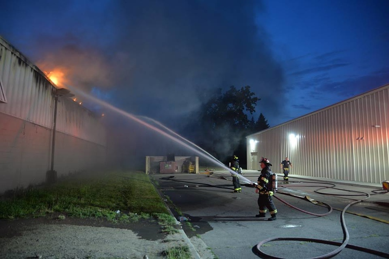 . The Dearborn Fire Department spent hours in the evening of July 4 battling a blaze at the Oakwood Food Center, 3600 Oakwood Boulevard in Melvindale. The building is a total loss. One firefighter was taken to the hospital with heat exhaustion. Photos courtesy of Ian Kushnir