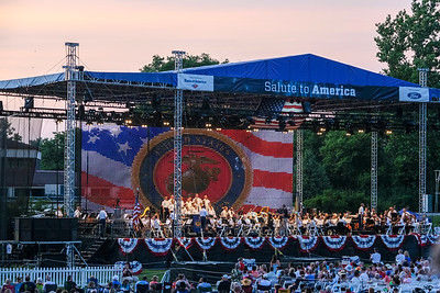 Greenfield Village kicked off their annual Salute to America Saturday, with future performances July 1st, 3rd and 4th. The concert features the Detroit Symphony Orchestra and the United States Army Field Band, as well as cannon fire and a fireworks show. Photos by Matthew Thompson for The Press & Guide.