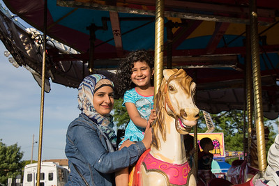 Baneen Alhamid and daughter Rukaya. Photo by Debbie Malyn for the Press & Guide.